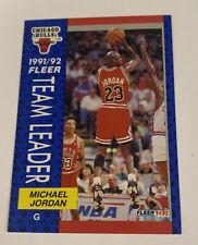 """1992-93 Fleer Michael Jordan Team Leader #375 Bulls """"King Of The World"""" NR MINT"""