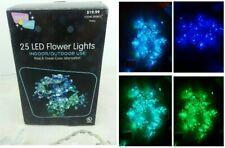 Flower String Lights 25 LED Color Changing Alternate Green Blue Indoor Outdoor