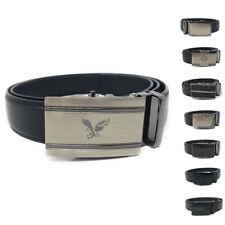 Casaba Leather Mens Ratchet Belt Sliding Adjustable Automatic Buckle Cut to Size