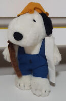 EMIRATES PROMOTIONAL SNOOPY BUILDER PLUSH TOY! SOFT TOY ABOUT 17CM TALL KIDS TOY