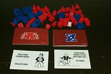 1998 NFL Monopoly Game Replacement Parts AFC & NFC Cards, Stadiums & Bleachers