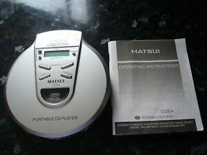 MATSUI PORTABLE PERSONAL CD PLAYER SILVER CD304