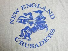 Vintage New England Crusaders AAU Basketball 80's Soft Thin T Shirt M