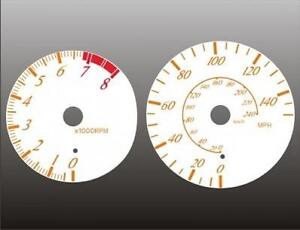 2000-2004 Toyota Celica Dash Cluster White Face Gauges 00-04