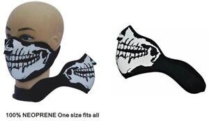 Neoprene Half Face Skeleton Mask