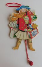 Midwest Canon Falls Mary Engelbreit Pull String Puppet Shopping Girl Ornament