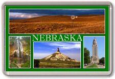 FRIDGE MAGNET - NEBRASKA - Large - USA America TOURIST
