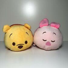 US SELLER! NWT Japan Disney Store Pooh & Piglet Tsum Tsum Land Plush