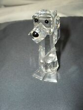 Swaroski Crystal Long Eared Dog Figurine 7634  Retired  Signed  Box NICE
