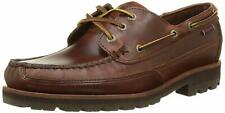 Sebago Men's Vershire Three Eye Brown Oiled Waxy Loafers 9.5W