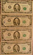 1977 $100 United States Federal Reserve Notes: Lot of Four Notes