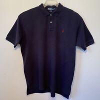 Ralph Lauren Men's Short Sleeve Polo Shirt Navy Blue Cotton Pique Size XXL
