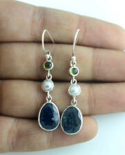 Awesome Earrings Natural Kyanite Gemstone Solid 925 Sterling Silver Jewelry 4.5G