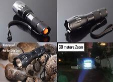 10000LM XM-L T6 LED 18650/AAA Flashlight Zoom Torch Light Lantern Lamp