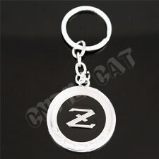 DATSUN Z Logo Car Key Ring Keychain for NISSAN Fairlady Z 350Z 370Z Silver&Black