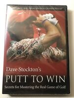Dave Stockton's Putt To Win DVD Secrets Mastering 1# Putting Guru For Hackers