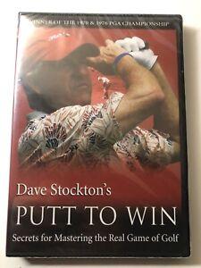 Dave Stockton's Putt To Win DVD Secrets Mastering 1# Putting Guru For Hackers