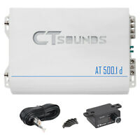 CT Sounds Car Audio Amplifier AT-500.1d Monoblock Pure Class D 500w RMS Amp