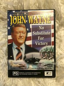 NO SUBSTITUTE FOR VICTORY -  JOHN WAYNE  DOCUMENTARY - ALL REGIONS vgc  t116