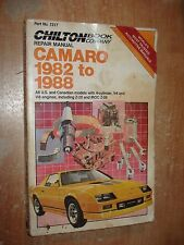 1982-1988 CHEVY CAMARO SERVICE MANUAL SHOP BOOK Z28 83 84 85 86 87 RS