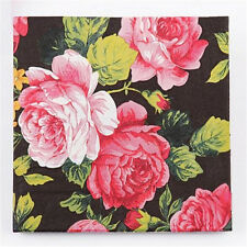 Fd3023 Wedding Birthday Party Rose Floral Paper Napkins 33X33Cm 1 Pack 20 Pc♫