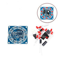 Round Electronic Lucky Rotary Suites CD4017 NE555 Self DIY LED Light Kits Parts