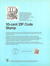 #7402 10c ZIP Code Stamp #1511 Souvenir Page