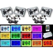 4X6 RF Color Change SMD LED Halo Shift Angel Eye Headlight 6K HID Light Bulb Set
