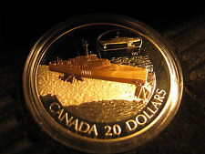 "2003 Canada Silver 20 Dollar Transportation ""HMCS Bras d'Or"" Series#4, Coin#1"