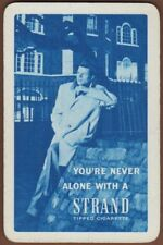 Playing Cards Single Card Old Vintage STRAND CIGARETTES Advertising Tobacco Man
