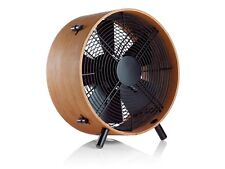 New Stadler Form Otto 3-Speed Floor Fan Steel Bamboo African Saeple Wood