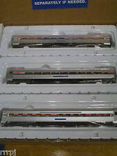 HO AMTRAK 3 PASSENGER CAR TRAIN SET WALTHERS  PHASE I AMTRAK #RR 510  AMTRAK  HO