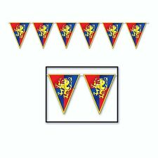 GAME of THRONES Medieval Crest PENNANT BANNER (12' FT) Hanging Party Decoration