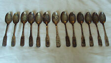 Group of 13 International Silver souvenir state spoons - All different