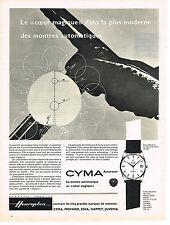 PUBLICITE ADVERTISING  1960   CYMA  montre COEUR MAGIQUE