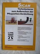 0333) RAU Sicam - Tiefenlockerer - Prospekt Brochure 02.1990