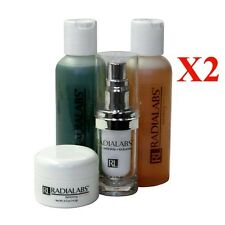 2 Kits Radialabs Face Care System w/ Instant Wrinkle Reducer