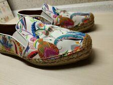 RRP €380 ETRO Canvas Espadrille Flat Shoes EU 38   Floral Print