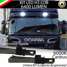 LAMPADE FARI AGGIUNTIVI LED SCANIA SERIE R CANBUS H3 BIANCO XENON 6400 LUMEN 24V