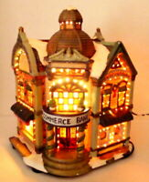 Victorian Village Bank Building Grandeur Noel Christmas Decoration 2003