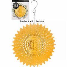 "6""/15cm GOLD MIRROR Stainless Steel Wind Spinner Sun Catcher Hook Garden Gift Pk"