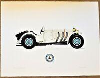 ALLAN STEPHENSON Color Etching SIGNED 1929 MERCEDES BENZ SSK Limited Edition