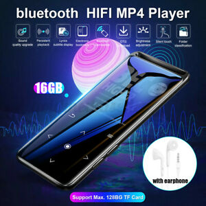 16GB MP3 Player bluetooth HiFi Musik PlayerSpieler 1,8'' Screen FM SD Karte