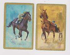 TROTTING & RACING X 2 ONLY SINGLE VINTAGE PLAYING/SWAPCARDS...LOVELY HORSES .
