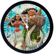 Disney Moana Black Frame Wall Clock E249