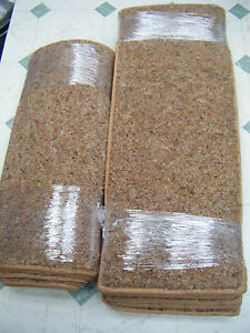 22 x 55 cm 12x STAIR PADS TREADS + MAT 80% WOOL TWIST *CONTRACT QUALITY*  #1417