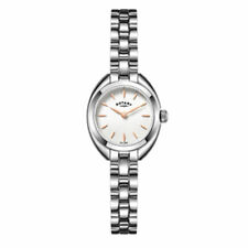 Stainless Steel Strap Polished Rotary Wristwatches