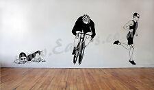 Vinyl wall art TRIATHLON RUNNER decal