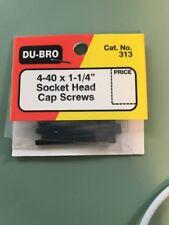 """Du-Bro #313 4-40 x 1-1/4"""" Socket Head Cap Screws"""