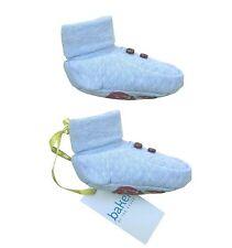 Ted Baker Baby Boy Pram Shoes Socks Booties Blue Pull On Designer 6-9 Months